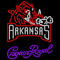 Crown Royal Arkansas Razorbacks University Beer Sign Neon Sign