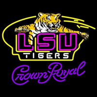 Crown Royal Awesome Lsu Tigers Logo University Beer Sign Neon Sign