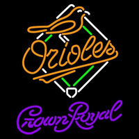 Crown Royal Baltimore Orioles MLB Beer Sign Neon Sign