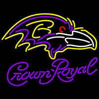 Crown Royal Baltimore Ravens NFL Neon Sign Neon Sign