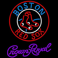 Crown Royal Boston Red Sox MLB Beer Sign Neon Sign