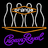 Crown Royal Bowling Orange Beer Sign Neon Sign