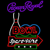 Crown Royal Bowling Spare Time Beer Sign Neon Sign
