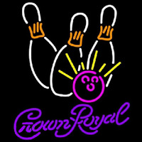 Crown Royal Bowling White Pink Beer Sign Neon Sign