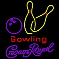 Crown Royal Bowling Yellow Beer Sign Neon Sign