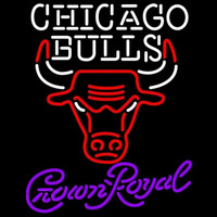 Crown Royal Chicago Bulls NBA Beer Sign Neon Sign