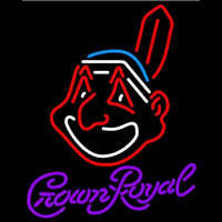 Crown Royal Cleveland Indians MLB Beer Sign Neon Sign