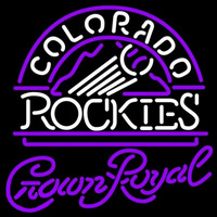 Crown Royal Colorado Rockies MLB Beer Sign Neon Sign