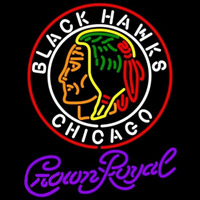 Crown Royal Commemorative 1938 Chicago Blackhawks Hockey Beer Sign Neon Sign