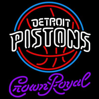 Crown Royal Detroit Pistons NBA Beer Sign Neon Sign