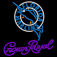 Crown Royal Florida Marlins MLB Beer Sign Neon Sign