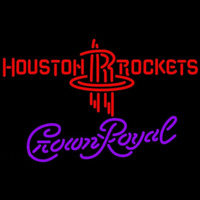 Crown Royal Houston Rockets NBA Beer Sign Neon Sign