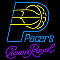 Crown Royal Indiana Pacers NBA Beer Sign Neon Sign