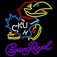 Crown Royal Kansas Jayhawks Logo University Beer Sign Neon Sign
