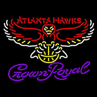Crown Royal Logo Atlanta Hawks NBA Beer Sign Neon Sign