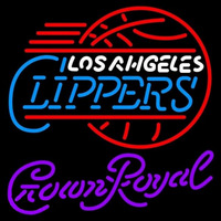 Crown Royal Los Angeles Clippers NBA Beer Sign Neon Sign