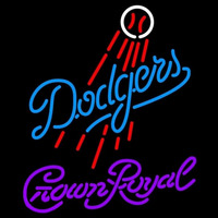 Crown Royal Los Angeles Dodgers MLB Beer Sign Neon Sign