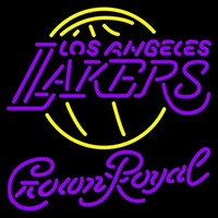 Crown Royal Los Angeles Lakers NBA Beer Sign Neon Sign