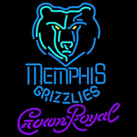 Crown Royal Memphis Grizzlies NBA Beer Sign Neon Sign