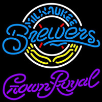 Crown Royal Milwaukee Brewers MLB Beer Sign Neon Sign