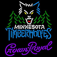 Crown Royal Minnesota Timberwolves NBA Beer Sign Neon Sign