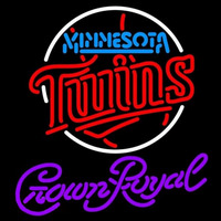 Crown Royal Minnesota Twins MLB Beer Sign Neon Sign