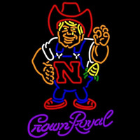 Crown Royal Nebraska Cornhuskers Herby The Husker University Beer Sign Neon Sign