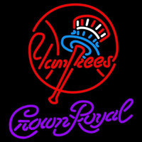Crown Royal New York Yankees MLB Beer Sign Neon Sign