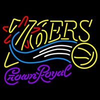 Crown Royal Philadelphia 76ers NBA Beer Sign Neon Sign