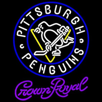 Crown Royal Pittsburgh Penguins Hockey Beer Sign Neon Sign