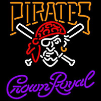 Crown Royal Pittsburgh Pirates MLB Beer Sign Neon Sign