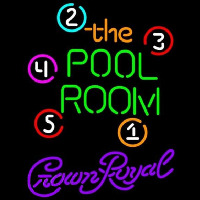 Crown Royal Pool Room Billiards Beer Sign Neon Sign