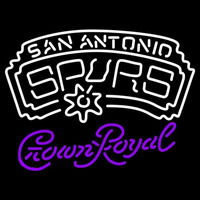 Crown Royal San Antonio Spurs NBA Beer Sign Neon Sign