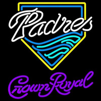 Crown Royal San Diego Padres MLB Beer Sign Neon Sign