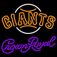 Crown Royal San Francisco Giants MLB Beer Sign Neon Sign