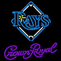 Crown Royal Tampa Bay Rays MLB Beer Sign Neon Sign