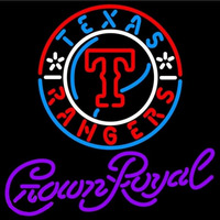 Crown Royal Texas Rangers MLB Beer Sign Neon Sign