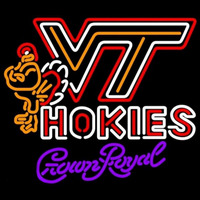 Crown Royal Virginia Tech Vt Hokies Logo Hockey Beer Sign Neon Sign