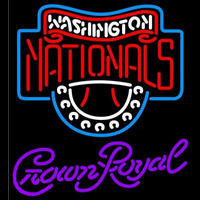 Crown Royal Washington Nationals MLB Beer Sign Neon Sign