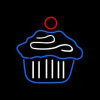 Cupcake Cake Logo Home Neon Sign