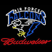 Custom Air Force Falcons With Budweiaer Real Neon Glass Tube Neon Sign Neon Sign