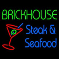 Custom Brickhouse Steak And Seafood Neon Sign