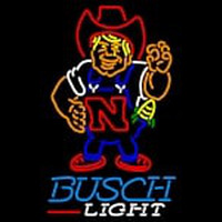 Custom Busch Light Nebraska Cornhuskers Herby The Husker University Neon Sign 1 Neon Sign