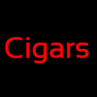 Custom Cigars 2 Neon Sign