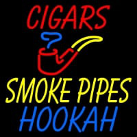 Custom Cigars Smoke Pipes Hookah Neon Sign