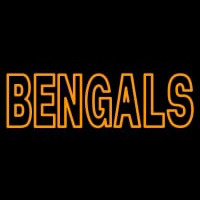 Custom Cincinnati Bengals   Wordmark Logo Neon Sign Neon Sign