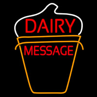 Custom Dairy On Logo Neon Sign
