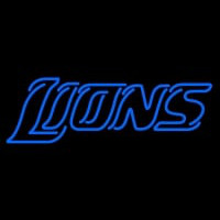 Custom Detroit Lions  Wordmark Logo Neon Sign Neon Sign