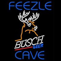 Custom Feezle Cave Busch Beer Mountain Buck Neon Sign
