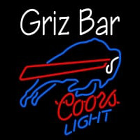 Custom Griz Bar With Coors Light Neon Buffalo Bills NFL Neon Sign Neon Sign